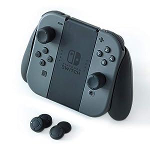 Nintendo Switch Controller Grip, rutschfestes, schwarzes Silikon, Länge, Daumenklemme / 6er-Pack für Joy-Con Controller
