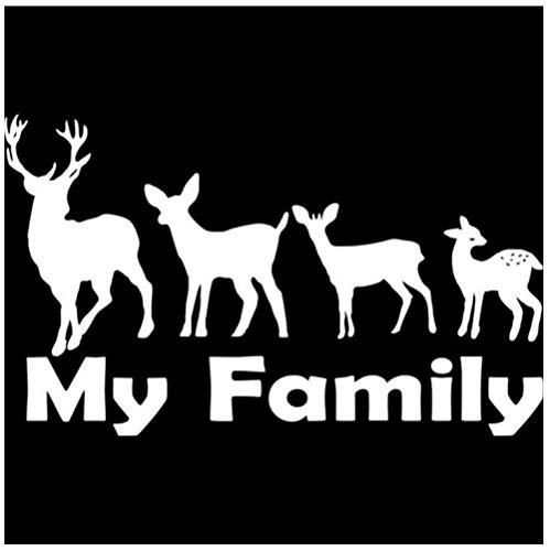 DDLLAN Auto Aufkleber Familie Jagd Deer Buck Baby Kitz Vinyl Aufkleber Auto Aufkleber Auto Aufkleber Zubehör Auto Styling 16 cm * 9,6 cm 2 Stück (Deer Family Auto-aufkleber)