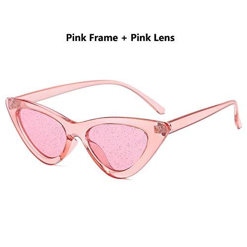 YOGER Sonnenbrillen Glitter Getönte Brillengläser Damen Klassische Brille Transparent Cat Eye Frame Hippie Sparkly Summer Shades