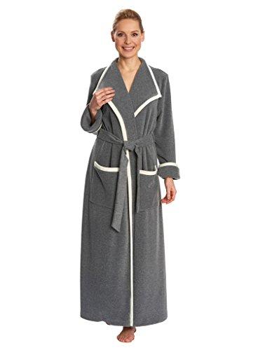 Feraud 3171291-10622 Women  039 s Grey Robe Loungewear Bath Dressing Gown 879026f02