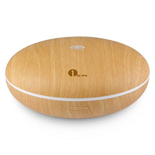 1byone Difusor de aroma, humidificador ultrasónico con Luz LED de colores, aumenta la humedad con vapor frio para su casa u oficina, añadir aceite o perfume para difundir el olor