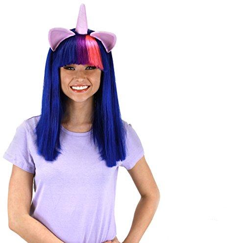 My Little Pony Twilight Sparkle Erwachsener Perücke with Ohren and (Perücke Rainbow Für Dash Erwachsene)