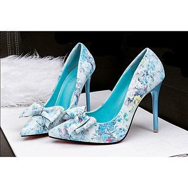 Moda Donna Sandali Sexy donna tacchi tacchi estate pu Casual Stiletto Heel Bowknot blu / Rosa Altri Pink