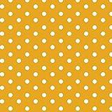 Baumwollstoff Punkte Gelb Webware Meterware Popeline