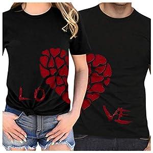 Valentine's Day für Pärchen Geschenke Fertigstellen Herz- LO VE Pärchen T-Shirts für Paar Funny Game Liebhaber Couple