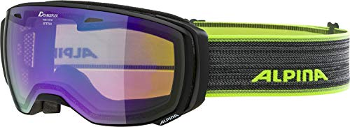 ALPINA Unisex- Erwachsene Estetica MM Skibrille, matt schwarz, One Size