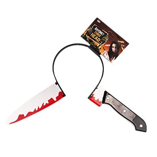 Halloween Haarreife - Lustige Scary Stirnband Messer Durch -