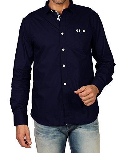 Fred perry - camicia da uomo m2325 - blu, m