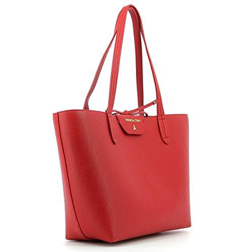 Patrizia Pepe Double Shopper 30 cm matt red dark grey