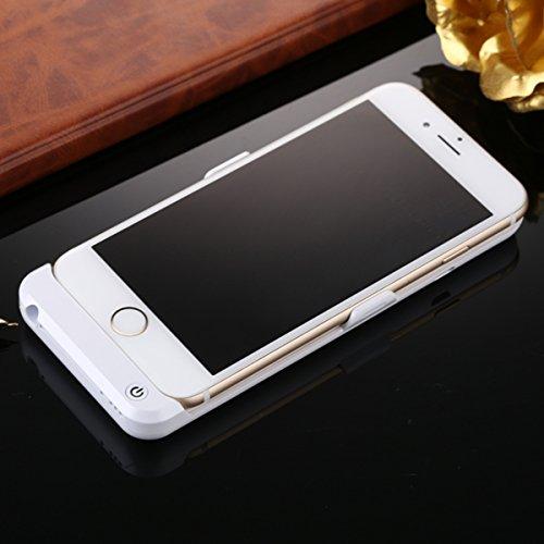 FindaGift Batterie Charger Li-Polymer Akku Hülle Apple iPhone 6 / 6S 4.7 inch Lademöglichkeit Bettary Hülle Deckel Schalen Gehäuse Battery Cover Protector Akku Taschen Schutzhülle für Apple iPhone 6 / Weiß