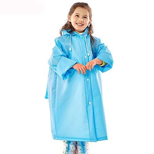 Yuany Kinder Regenmäntel, Regenmantel Lange Schüler Regenmantel Männer und Frauen wasserdichte Regenmantel Outdoor Wandern transparenten Regenmantel (Farbe: C-S)