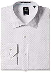 Van Heusen Mens Dress Shirt (8907445277580_VHSF316M04311_39_Beige / White)