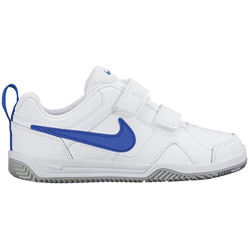 Nike Lykin 11 (Psv), Chaussures Multisport Indoor Mixte Enfant Blanc (White/Hyper Cobalt/Wolf Grey)