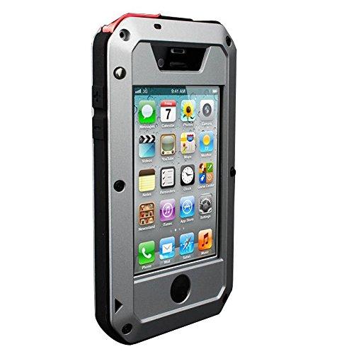 Love Mei Schutzhülle wasserdicht stoßfest Regenschutz Staubschutz Conception de Größe Schutzhülle Decke Case Waterproof aus Metall Aluminium für iPhone 64.7Daumen silber