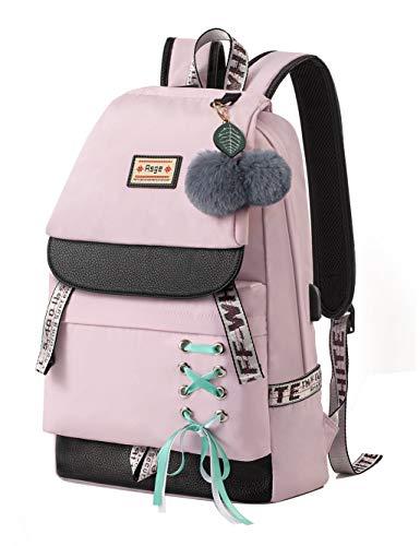 Asge Schulrucksack Mädchen Schulranzen Jungen Schultasche mit Ergonomischem Design Rucksack Campus Backpack Nylon Wasserdicht Daypacks Damen Freizeitrucksack Teenager Rucksäcke Modisch Schule Bag