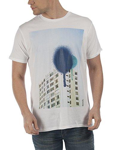 Bench Herren T-Shirt Composition Weiß (Bright White WH001)