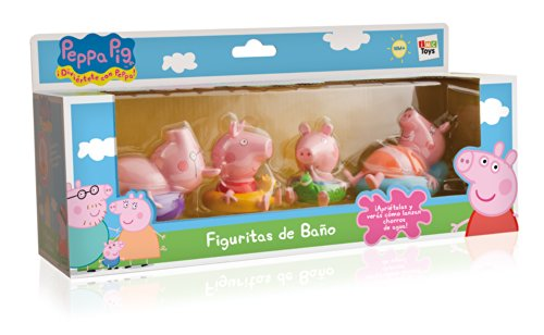 IMC TOYS 715098 - Figurines for the bathroom Peppa Pig (4 figures, assortment)