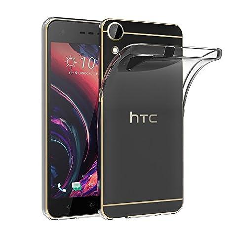 Coque HTC Desire 10 Lifestyle/ Desire 825, AICEK Etui Silicone Gel HTC Desire 10 Lifestyle Housse Antichoc Desire 10 Lifestyle Transparente Souple Coque de Protection pour HTC Desire 10 Lifestyle/ Desire 825(5.5 Pouces)