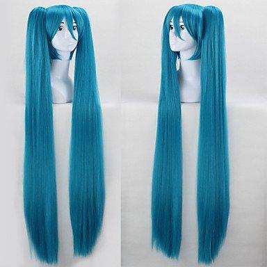 HJL-Anime Cosplay perruque perruques de cheveux de nylon bleu au d¨¦but du son dans l'avenir , blue