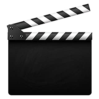 Movie Clapper Chalkboard Sign - Large with Mounting Holes & Fittings - Film Home Cinema