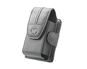 Naztech Pilot Case with Swivel Clip for Small and Med. Bar Phones Features a Wallet for I.D.-Gray