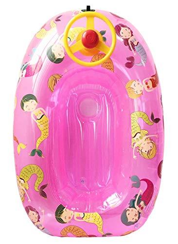Kreationen Llopis aufblasbares Boot für Kinder 90 cm mit Lenkrad Mehrfarbig (60067)