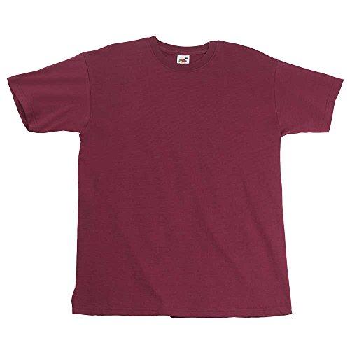 Fruit of the LoomHerren T-Shirt Rot - Burgunderrot