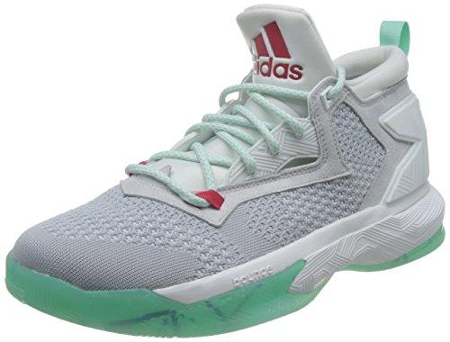 adidas Herren D Lillard 2 Pk Basket, Multicolore (Lgsogr/Rayred/Icegrn), 40 2/3 EU