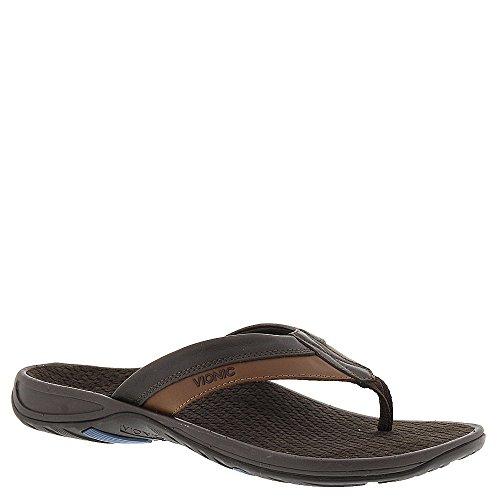 Vionic Joel - Mens Orthotic Sandals - Orthaheel Chocolate/Tan - 8