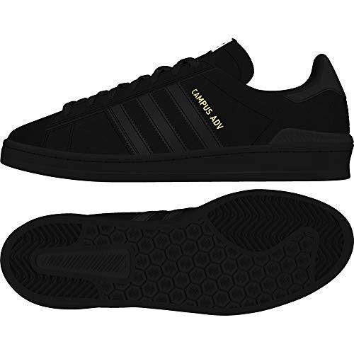 Campus Vulc Schuh (adidas Campus Vulc ADV core Black/FTW White/Gold Schuhe Größe US 8)