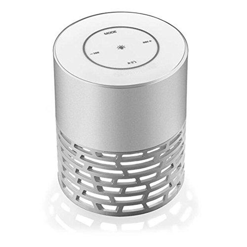 LED Bluetooth Lautsprecher, portable Bass Bluetooth Touch Lautsprecher Bunte Fantasy hohle Tischlampe Bluetooth Audio , silver gray