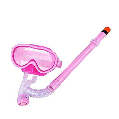 Saflyse Kinder Schwimmbrille Schnorchel + Taucherbrille Set Kinder-Tauchset (Pink)