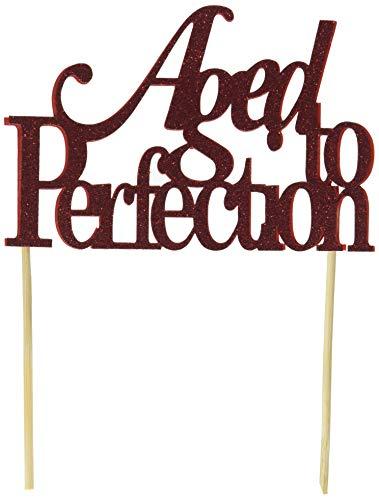 All About Details Tortenaufsatz, Aged-to-perfection, Rot (Lebensmittel-etiketten Für Die Partei)