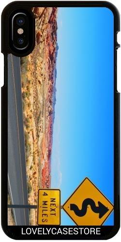 Hülle für Iphone X - Straße USA USA Drehen Vereinigte Staaten Wüste Arid Sun Sky Blue