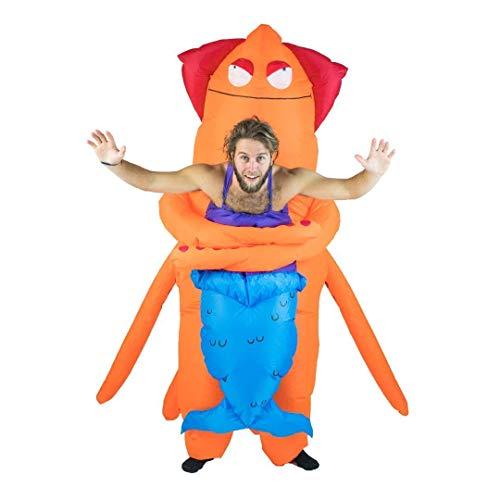 Tintenfisch Erwachsene Kostüm Für - Bodysocks® Aufblasbares Huckeback Riese Tintenfisch Seeungeheuer Monster Kostüm
