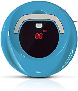Robotic Cleaner Inteligente automático de limpieza de piso Robot Hogar Aspiradora de barrido con mango Robotic Sweeper para mascotas pelo, azul