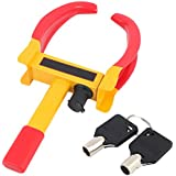 Autosun Universal Yellow Anti Theft Car Wheel Tyre Lock Clamp Heavy Duty Anti Theft Protective Car Wheel Lock Security Tire Clamp