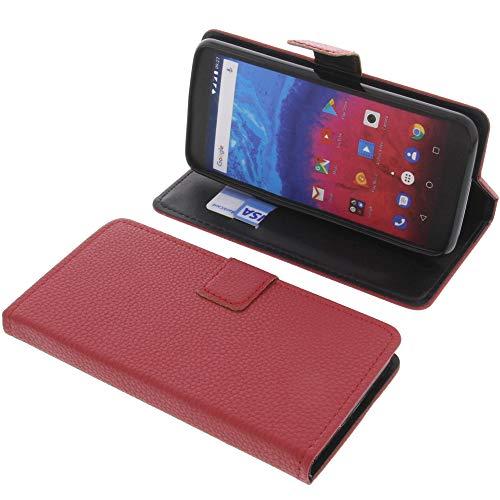 foto-kontor Tasche für Archos Core 55s Book Style rot Schutz Hülle Buch