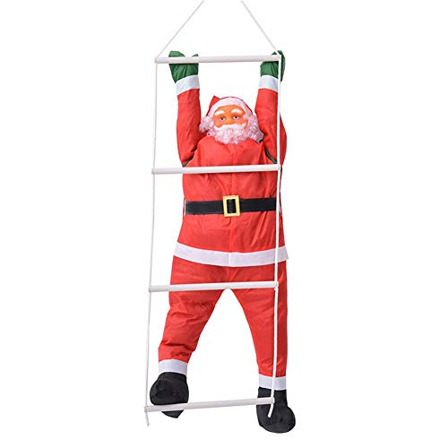 Bulary 60cm climbing rope ladder decorazioni natalizie di babbo natale decorazione da appendere a parete pendente per bambola di babbo natale da esterno