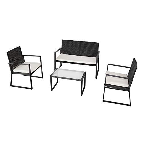 Aktive 61009 Conjunto muebles ratán para jardín