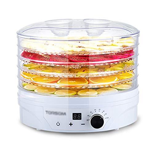 YONG FEI Séchoir pour aliments - Grade PS, ABS, 5 couches, transparent, contrôlé par ordinateur, grande capacité, petite machine multifonctionnelle pour fruits séchés, adapté pour la maison, cuisine,