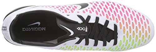 Nike Magista Opus (FG), Chaussures de Football Compétition Homme Blanc - Weiß (WHITE/BLACK-PINK BLAST-VOLT_106)