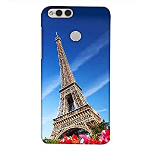 printtech Latest Designer Printed Mobile Back Cover for Huawei Honor 7X / honor 7x Versions: BND-L21 (Europe); BND-L22 (India); BND-L24 Mate SE (USA); BND-AL10, BND-TL10 (China) (Eiffel Tower Lover Sing)