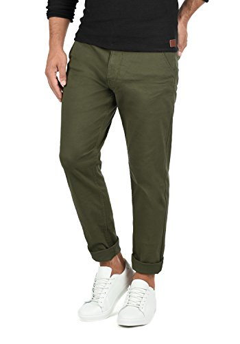 Blend Kainz Herren Chino Hose Stoffhose Aus Stretch-Material Regular Fit, Größe:W34/34, Farbe:Dusty Green (70595) -