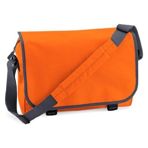 Shirtstown Messenger Bag, Umhängetasche, Schultertasche, Retro, Tasche, Farbe weiss orange