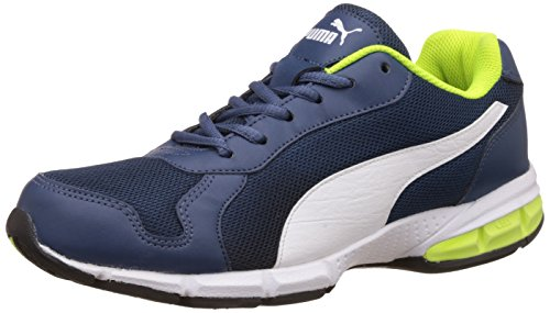 Puma Men's Reid XT IDP Blue Wing Teal, Puma White and Safe Running Shoes - 7 UK/India (40.5 EU)