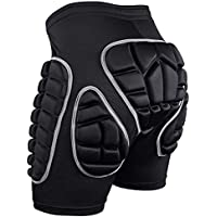 Kuyou Protection Hip 3D Padded Shorts Breathable Lightweight Protective Gear for Ski Skate Snowboard Skating Skiing Volleyball Motorcross Cycling (S M L)