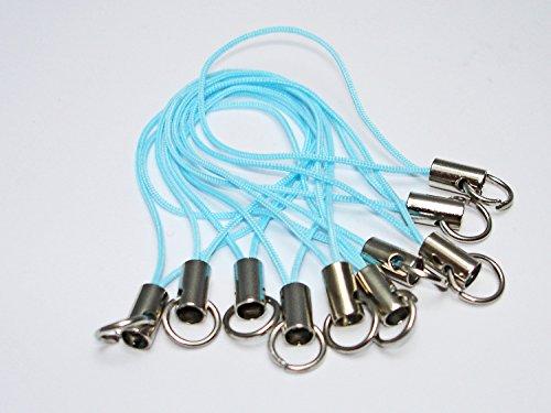10 Handyanhänger, Handyschlaufen, Handyschmuck, Blau, HA6