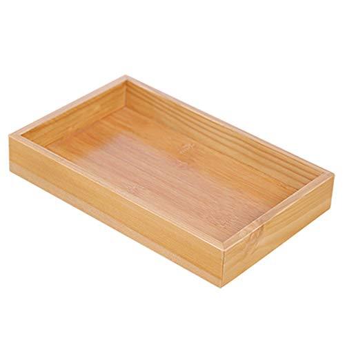 Xiton Holzlagerfach Orginal Desktop-Schublade Organizer Schmuck Display Box Bambus Speicher Salver (Desktop-schmuck-organizer)
