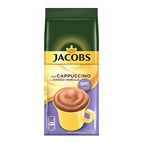 Jacobs Cappuccino Choco Vanille, 12 x 500 g Kaffeespezialitäten im Nachfüllbeutel